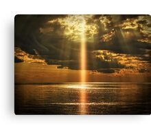 Laser Light Reflection Canvas Print