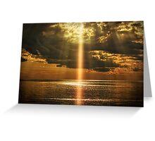 Laser Light Reflection Greeting Card