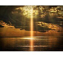 Laser Light Reflection Photographic Print