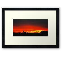 C130 (Hercules) and a southern hemisphere sunset Framed Print
