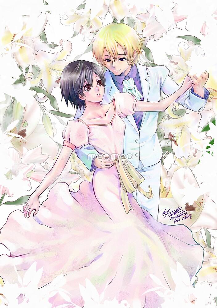 Tamaki + Haruhi dancing by meomeo