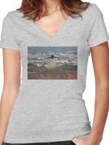 Typhoon - Dawlish Air Show 2015 Women's Fitted V-Neck T-Shirt
