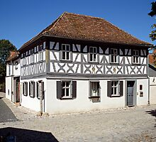 Timber framed house in Iphofen, Franconia, Bavaria, Germany. by David A. L. Davies