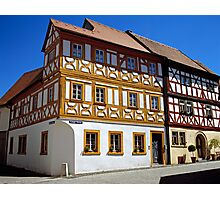 Half timbered houses in Iphofen, Franconia, Bavaria, Germany. Photographic Print