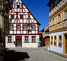 Half timbered houses in Iphofen, Franconia, Bavaria, Germany. by David A. L. Davies
