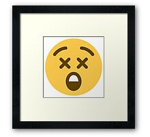 astonished face emoji Framed Print