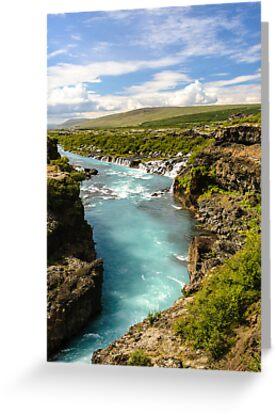 Hvítá og Hraunfossar (White-river and Lava-falls) by Ólafur Már Sigurðsson