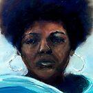 Teal Scarf - Self Portrait 2012 by Monica Vanzant