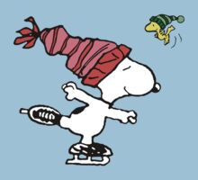 Snoopy Skating by VintageTeeShirt
