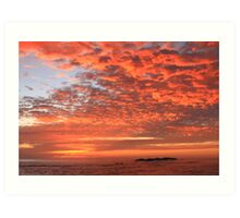Red Dawn Sky Art Print