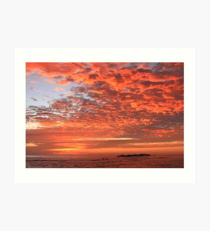 Red Dawn Sky Art Print