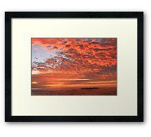 Red Dawn Sky Framed Print
