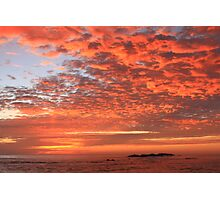 Red Dawn Sky Photographic Print