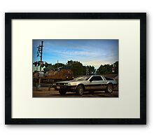 """Back to the Future"" Final Scene Framed Print"