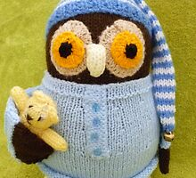 Hand Knitted Owl by mrsmcvitty