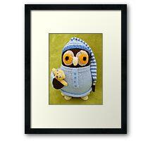 Hand Knitted Owl Framed Print