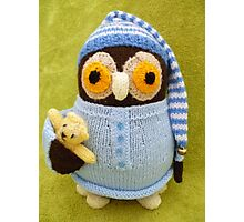 Hand Knitted Owl Photographic Print