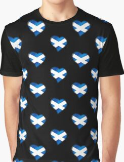 Scottish Flag - Scotland - Heart Graphic T-Shirt