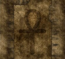 Egyptian Ankh on Papyrus by Rainer Steinke