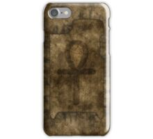 Egyptian Ankh on Papyrus iPhone Case/Skin