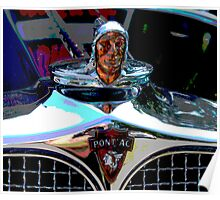 Pontiac Indian Chief Hood Ornament Poster