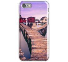 Small fishing cottages on Bokod lake iPhone Case/Skin
