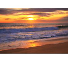 Pacific Surf at Sunset Photographic Print