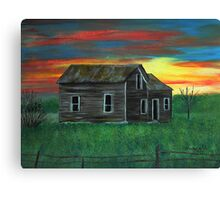 Old house by the sunset Canvas Print