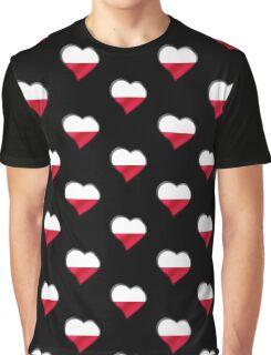 Polish Flag - Poland - Heart Graphic T-Shirt