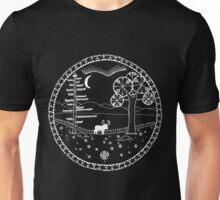 Alces Alces White Outlines Unisex T-Shirt