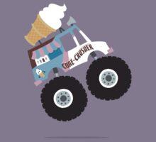 Ice Cream Monster Truck Kids Tee