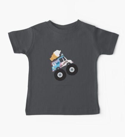 Ice Cream Monster Truck Baby Tee