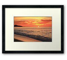 Tequila Sunrise Seascape  Framed Print