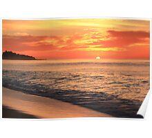 Tequila Sunrise Seascape  Poster