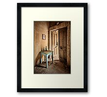 The Blue Table Framed Print