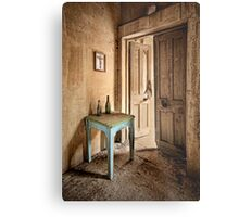 The Blue Table Metal Print