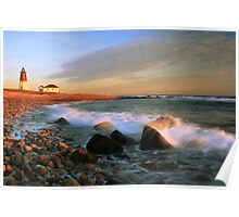 Point Judith Lighthouse Seascape Poster