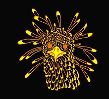 Secretary Bird Orange and Yellow Print by KennedyAnne