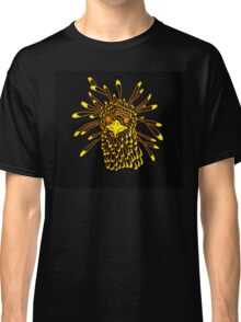 Secretary Bird Orange and Yellow Print Classic T-Shirt