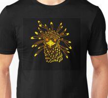 Secretary Bird Orange and Yellow Print Unisex T-Shirt