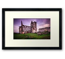 Old church's ruin in Zsambek Framed Print