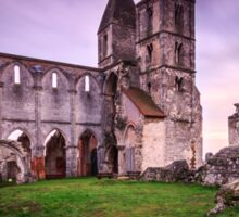 Old church's ruin in Zsambek Sticker