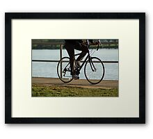 biking on the Basin Framed Print