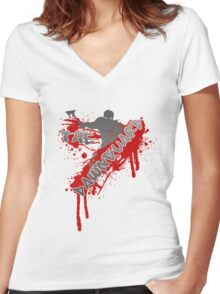 The Dawnguard Women's Fitted V-Neck T-Shirt