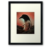 The crow in the cloud Framed Print