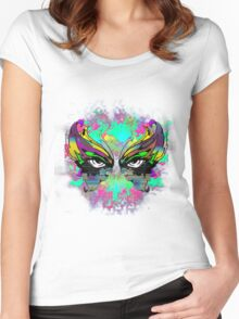 Stunning Abstract Mask  Women's Fitted Scoop T-Shirt