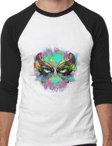 Stunning Abstract Mask  Men's Baseball ¾ T-Shirt