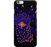 Secretary Bird Blue and Orange Print iPhone Case/Skin