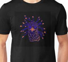 Secretary Bird Blue and Orange Print Unisex T-Shirt