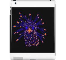 Secretary Bird Blue and Orange Print iPad Case/Skin